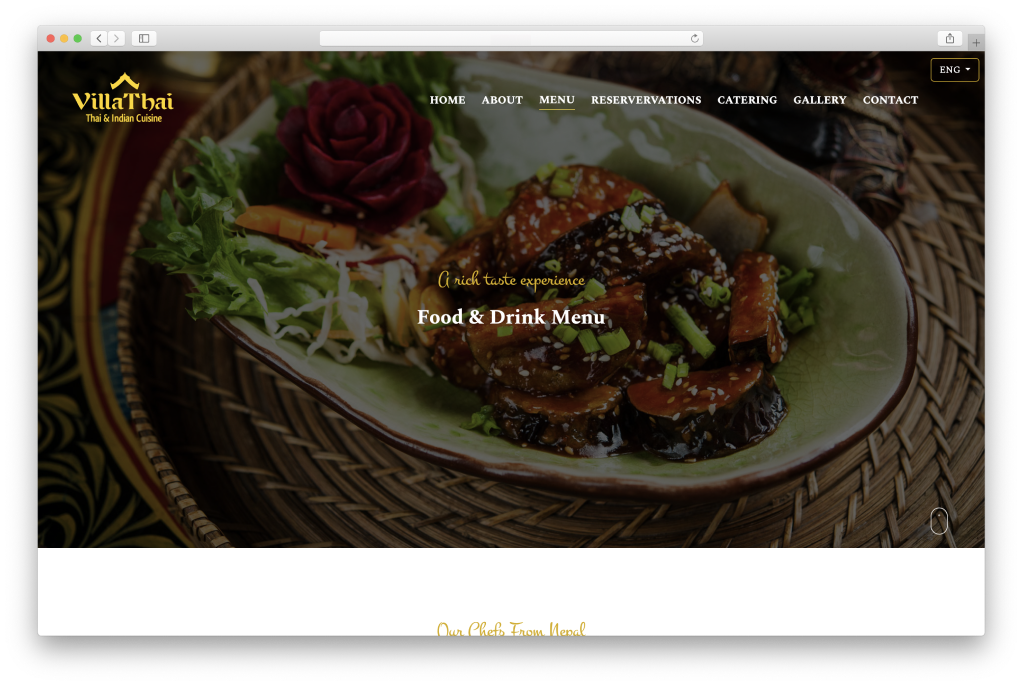 Villa Thai Homepage